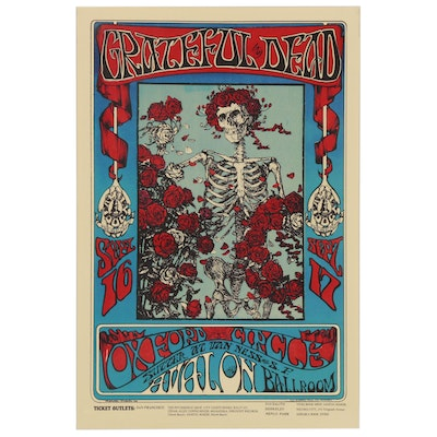 "Digital Print after Alton Kelly and Stanley Mouse ""The Grateful Dead"" Poster"