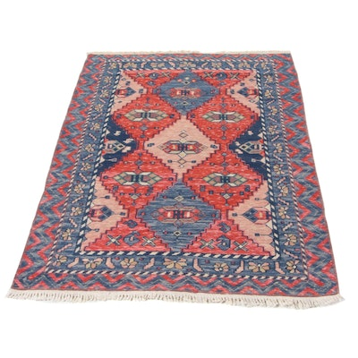 3'7 x 5'2 Hand-Knotted Caucasian Turkish Area Rug, 1990s