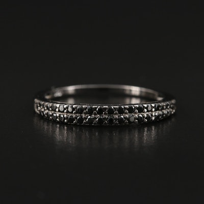 Sterling Cubic Zirconia Double Row Band