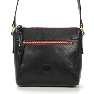 Dooney & Bourke Black Brown Leather Shoulder Bag