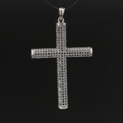 Sterling Silver Spinel Cross Pendant