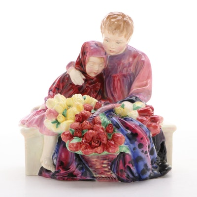 "Royal Doulton ""Flower Sellers Children"" Bone China Figurine"