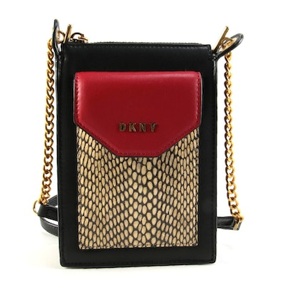 DKNY Alexa Leather Phone Crossbody Bag