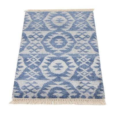 2' x 3'2 Hand-Knotted Indo-Moroccan Accent Rug, 2010s