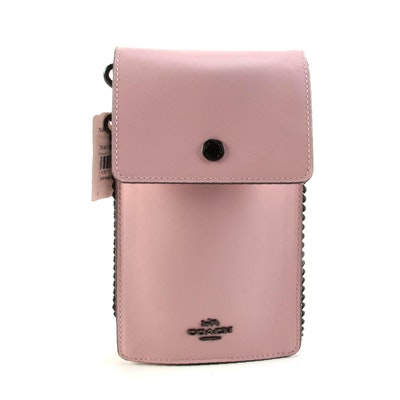 Coach Snap Phone Crossbody Bag in Aurora/Pewter
