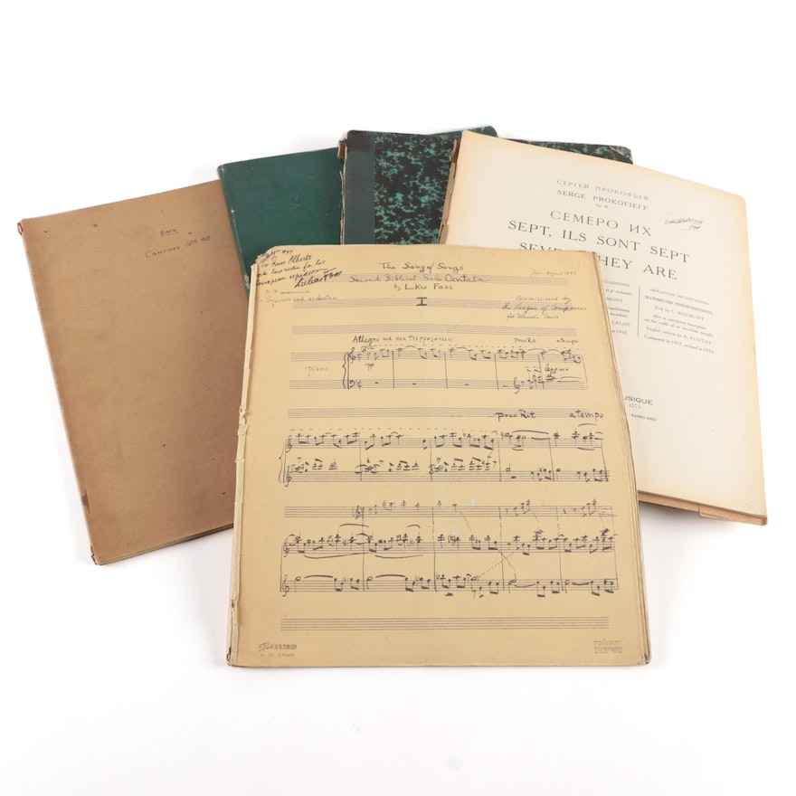 "Signed ""The Song of Songs"" by Lukas Foss and More Sheet Music"