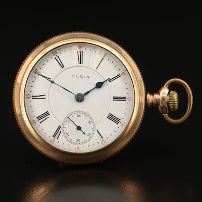 1893 Elgin Sidewinder Pocket Watch