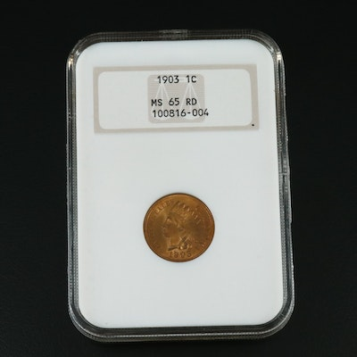 NGC Graded MS65RD 1903 Indian Head Cent
