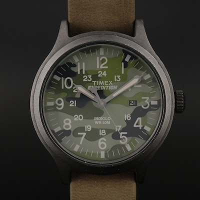 Timex Expedition Scout Black PVD Coated Brass Quartz Wristwatch