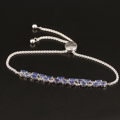 Sterling Silver Tanzanite Bolo Bracelet