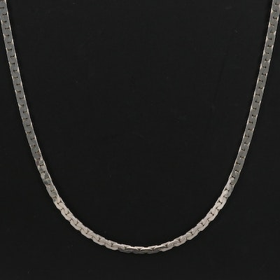 "Sterling Silver ""C"" Link Necklace"
