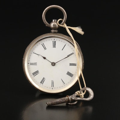 Antique 935 Silver Pocket Watch