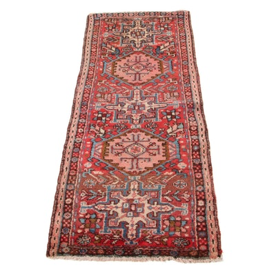 2'1 x 5'5 Hand-Knotted Persian Karaja Carpet Runner, 1930s