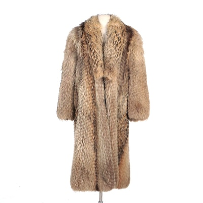 Tanuki Fur Full-Length Fur Coat by Adsbøl of Copenhagen