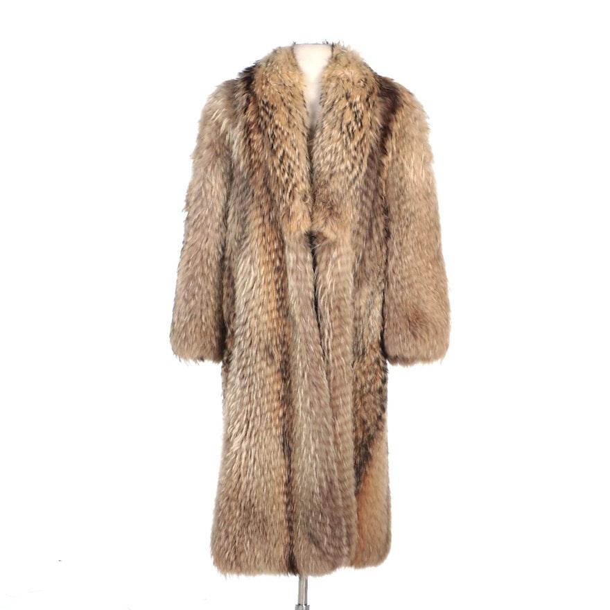 Tanuki Fur Full-Length Fur Coat by Adsbøl of Copenhagen