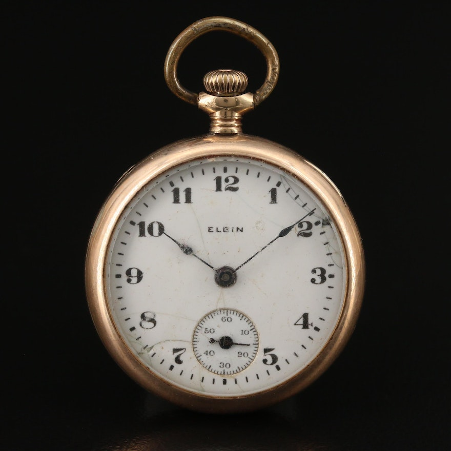 1917 Elgin Gold Filled Pocket Watch