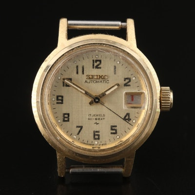 1976 Seiko Gold Tone Automatic Wristwatch