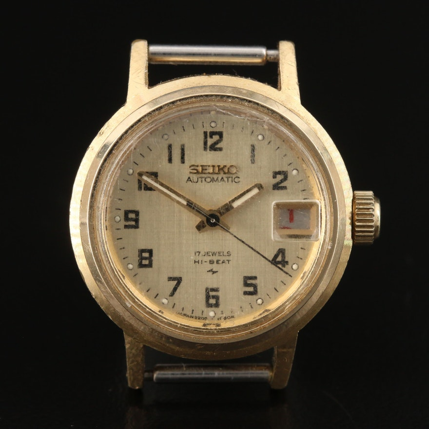 1976 Seiko Gold Tone Automatic Wristwatch