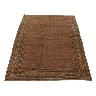 7'8 x 11'10 Hand-Knotted Persian Tabriz Room Size Rug, 1920s