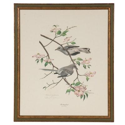 """Richard Evans Younger Offset Lithograph """"Mockingbird,"""" circa 1973"""