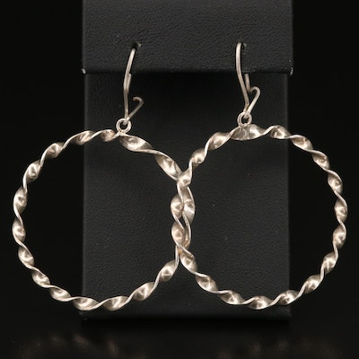 Sterling Silver Twisted Wire Hoop Earrings