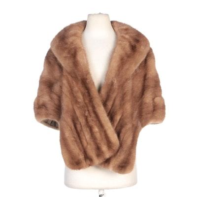Blonde Mink Fur Stole for Schimmel Furs