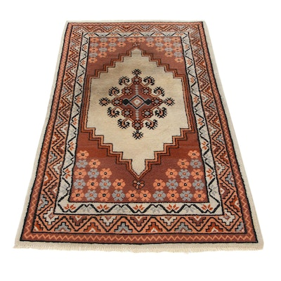 3'4 x 6'2 Hand-Knotted Moroccan Area Rug, 1980s