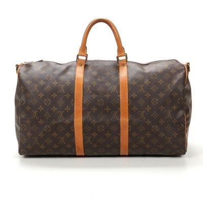 Louis Vuitton Keepall Bandoliere 50 in Monogram Canvas and Vachetta Leather