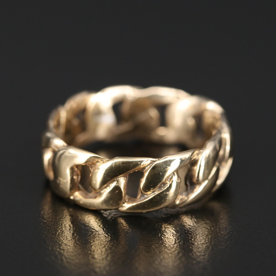 Sterling Silver Chain Link Band