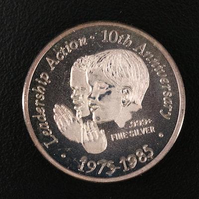 1985 Ronald Reagan Commemorative 1/2-Oz. Fine Silver Coin