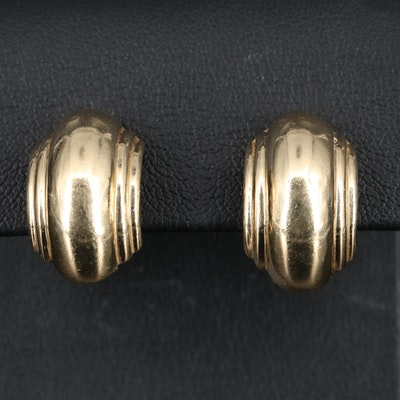 14K Clip Earrings