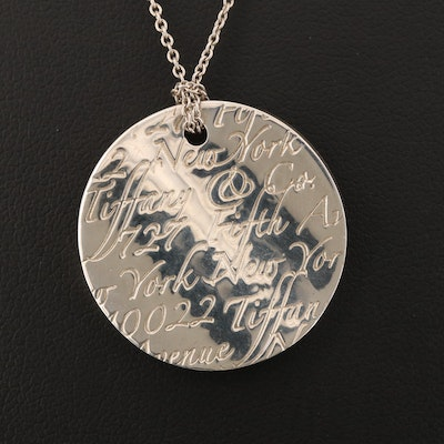 "Tiffany & Co. Sterling ""Notes"" Pendant Necklace"