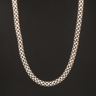 Sterling Popcorn Chain Necklace