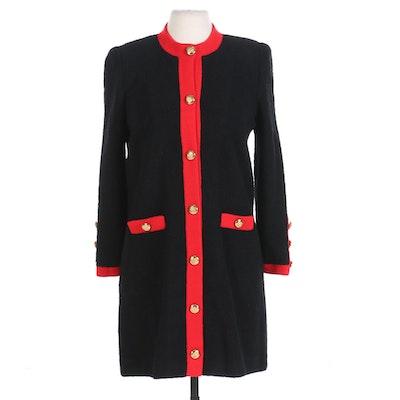 Adolfo New York for Neiman-Marcus Bouclé Wool Sweater Coat