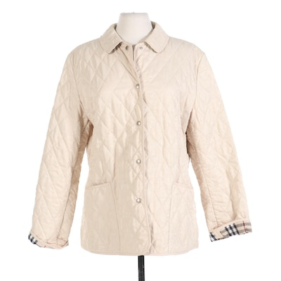 Burberry Quilted Field Jacket with Classic Nova Check Lining