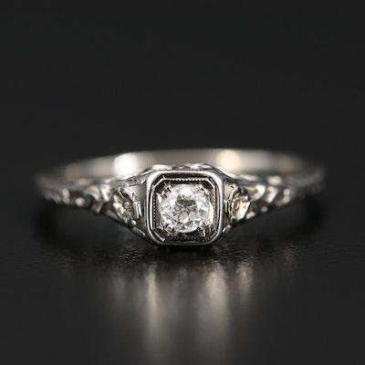 18K Edwardian Diamond Ring