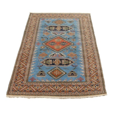 6'6 x 10'1 Hand-Knotted Persian Ardebil Area Rug, 1960s