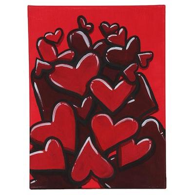 "Bee1ne Acrylic Painting ""Spread More Love (Ruby),"" 2020"