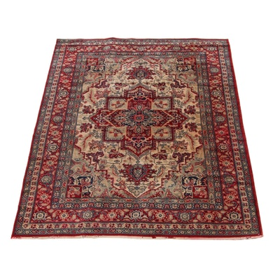5'5 x 7'8 Power-Loomed European Persian Heriz Area Rug