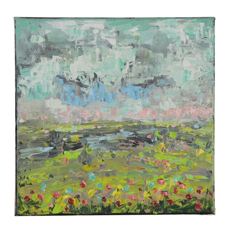 Leira Veylin Abstract Acrylic Landscape Painting, 2020