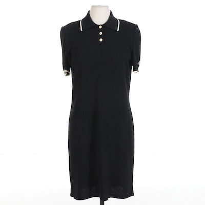 St. John Knit Polo Shirt Dress