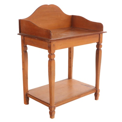 American Primitive Yellow Pine Washstand, Possibly Southern, 19th Century