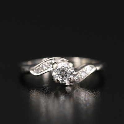 Vintage 14K Diamond Bypass Ring