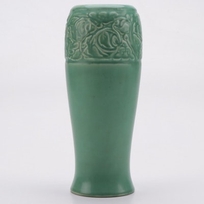 Rookwood Pottery Matte Green Ceramic Vase, Early 20th Century