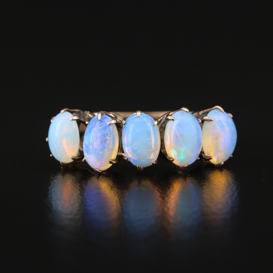 Antique 9K Opal Ring