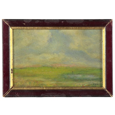 Miniature Landscape Oil Painting, 1948