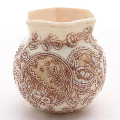 Thomas Webb & Sons Ivory Cameo Glass Vase, Late 19th to Early 20th Century