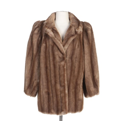 Faux Fur Coat with Hook-and-Loop Closure