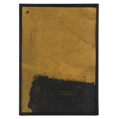 "Serge Spitzer Acrylic Painting ""Storm Clouds on the Horizon IX"""