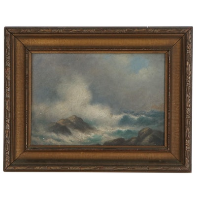 Seascape Oil Painting of Freeport, Maine